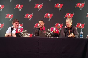 Brent Grimes was introduced on Monday – Photo by: PewterReport.com