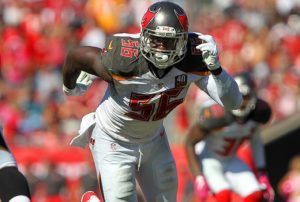Bucs DE Jacquies Smith - Photo by: Cliff Welch