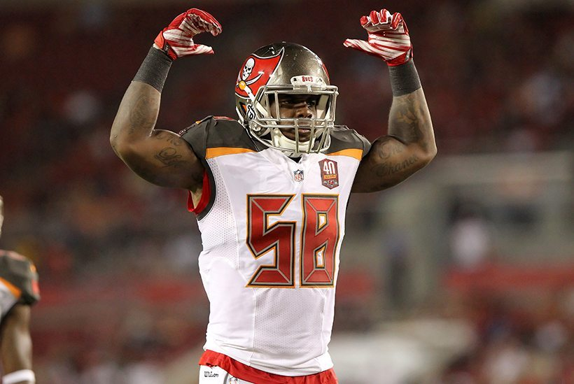 Bucs MLB Kwon Alexander is back with a vengeance in 2016 – Photo by Cliff Welch/PR