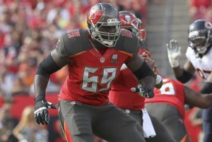 Bucs tackle Demar Dotson - Photo by Mark LoMoglio/Icon Sportswire