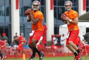 Mike Glennon and Jameis Winston have worked together well over the past year – Photo by: Cliff Welch/PR