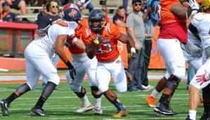 Toledo RB Kareem Hunt - Photo by: Courtland Richards
