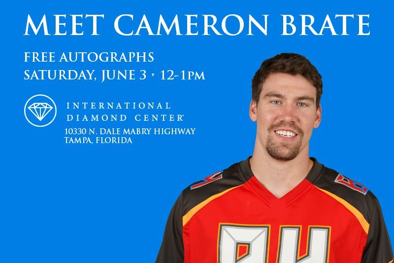 Meet TE Brate At International Diamond Center Tampa Today!