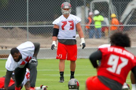 J.R. Sweezy Bucs OTAs