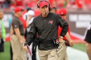 Bucs head coach Dirk Koetter - Photo by: Cliff Welch/PR