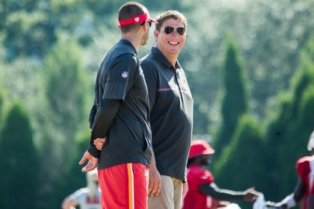 Bucs GM Jason Licht and John Spytek - Photo by: Cliff Welch/PR
