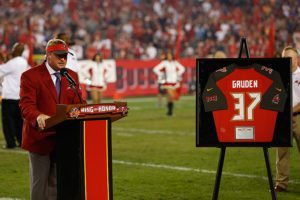 Former Bucs head coach Jon Gruden - Photo by: Mark Lomoglio/PR