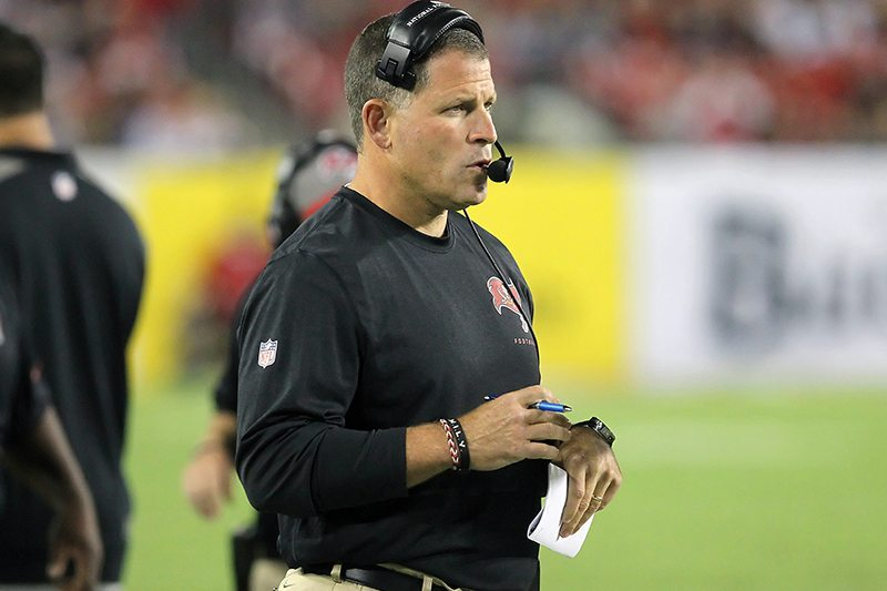 Former Bucs head coach Greg Schiano - Photo by: Cliff Welch/PR
