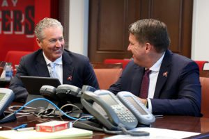 Bucs head coach Dirk Koetter and GM Jason Licht - Photo courtesy of the Tampa Bay Buccaneers