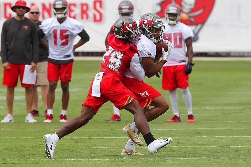 Bucs CB Mark Myers (29) - Photo by: Cliff Welch/PR