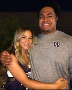 Alexus Atchley and Bucs DT Vita Vea - Photo from Instagram