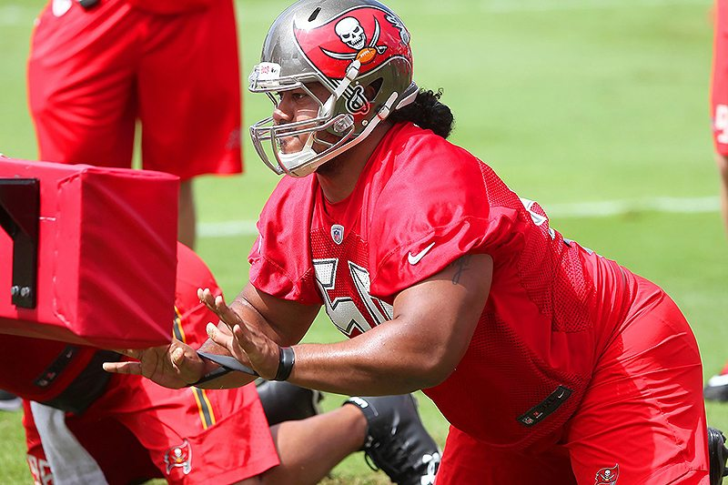 Bucs DT Vita Vea - Photo by: Cliff Welch/PR
