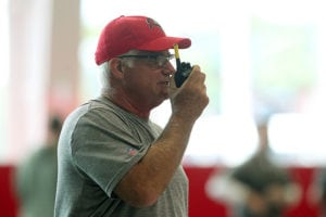 Former Bucs defensive coordinator Mike Smith - Photo by: Cliff Welch/PR