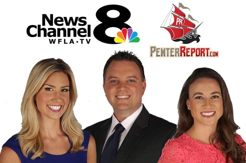 News Channel 8 Sports Team: Annie Sabo, Dan Lucas and Gabrielle Shirley