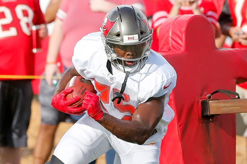 barber has the look of bucs starting rb pewter report