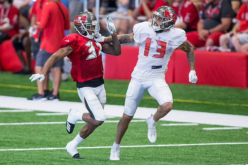 Bucs WR Mike Evans and CB Carlton Davis - Photo by: Mary Holt/PR