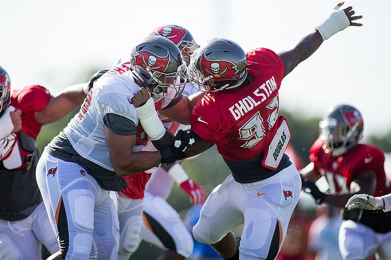 Bucs DE Will Gholston - Photo by: Mary Holt/PR