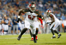 Bucs DE Noah Spence - Photo by: Cliff Welch/PR
