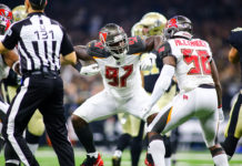 Bucs DE Vinny Curry and MLB Kwon Alexander - Photo by: Mary Holt/PR