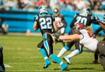 Panthers RB Christian McCaffrey - Photo by: Mary Holt/PR