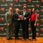 The Glazer family with Bruce Arians – Photo by: Cliff Welch/PR