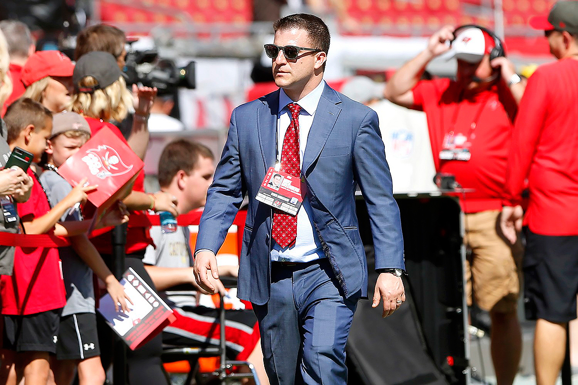 Bucs director of football administration Mike Greenberg