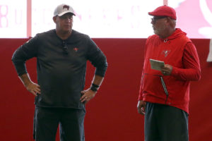 Bucs GM Jason Licht and head coach Bruce Arians