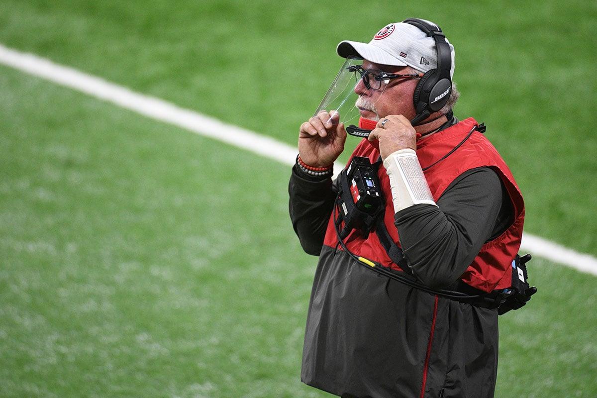 Bucs head coach Bruce Arians