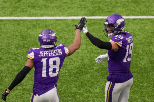 Vikings WRs Justin Jefferson and Adam Thielen