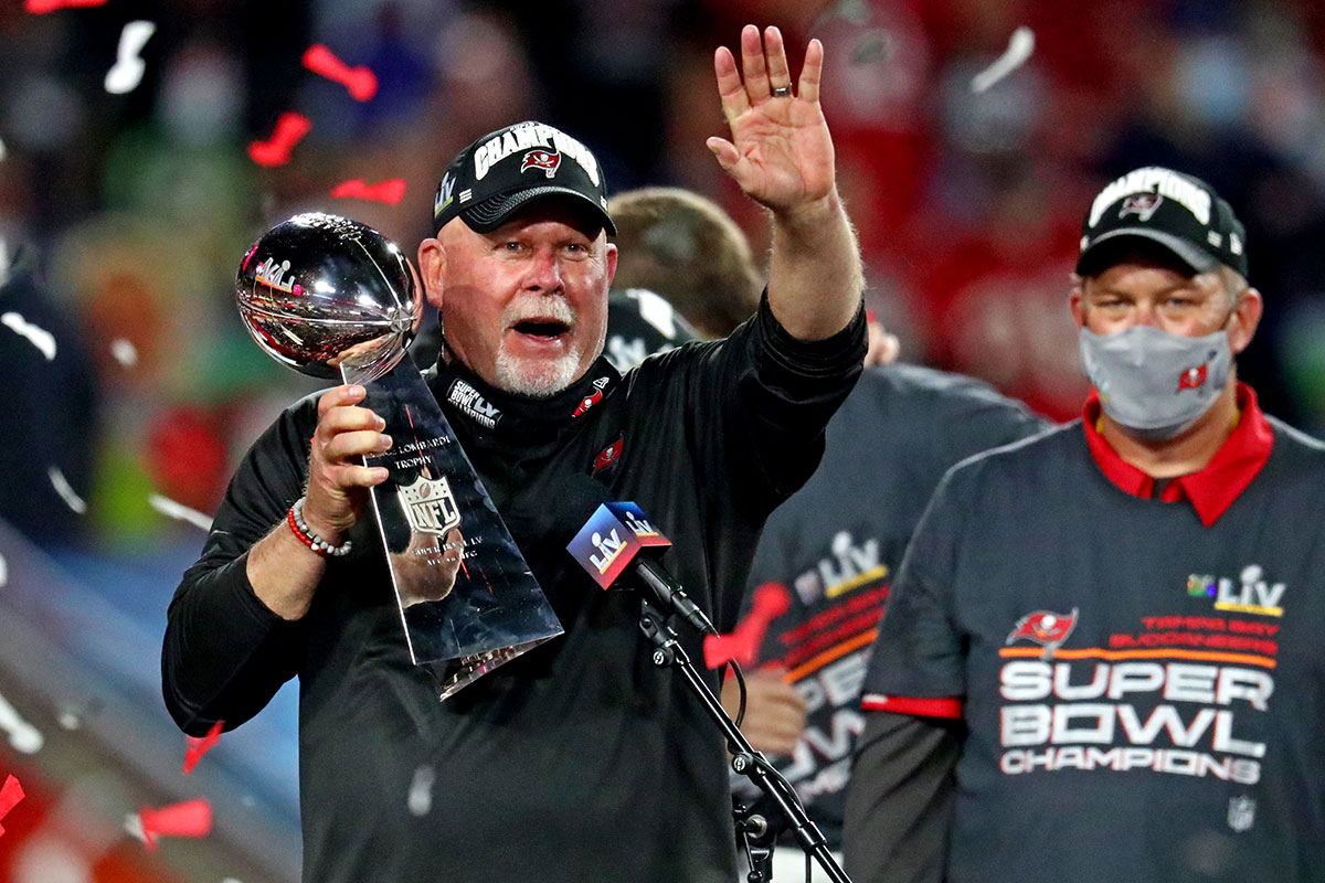 Bucs head coach Bruce Arians and GM Jason Licht