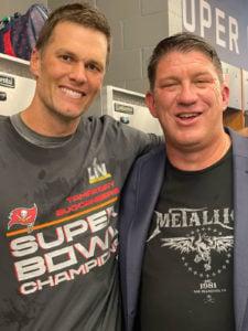 Bucs QB Tom Brady and GM Jason Licht