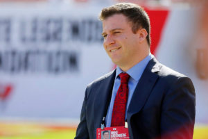 Bucs vice president of football administration Mike Greenberg