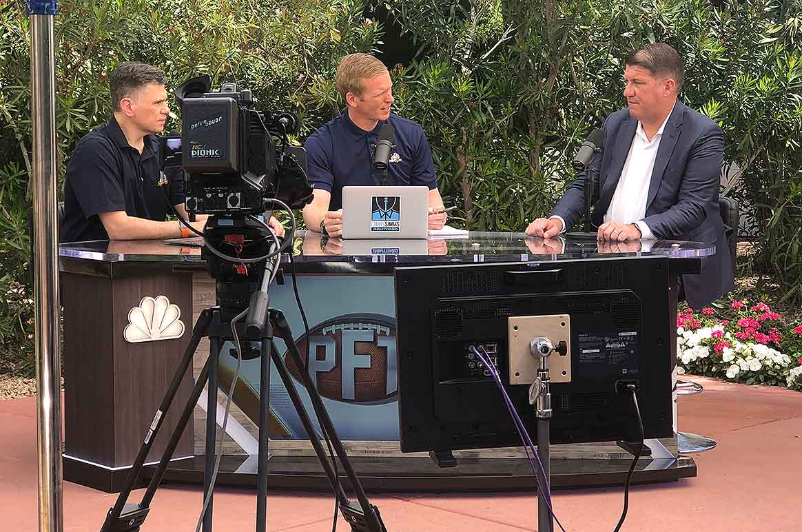 PFT's Mike Florio and Chris Simms and Bucs GM Jason Licht